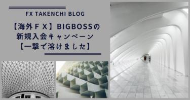 【海外FX】Bigbossの新規入会キャンペーン【一撃で溶けました】